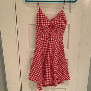 Fashion Nova Red Gingham Dress